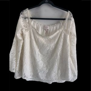 Laundry by Shelli Segal ivory lace Top